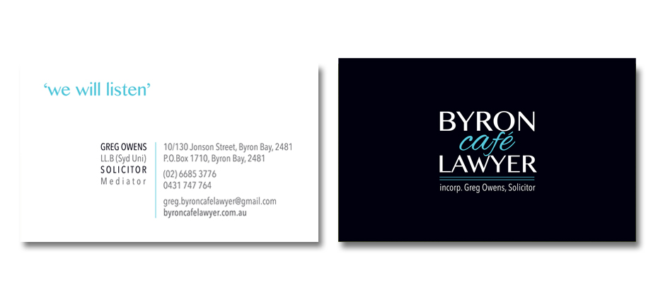 Business cards be creative agency byron latte lawyer reheart Gallery